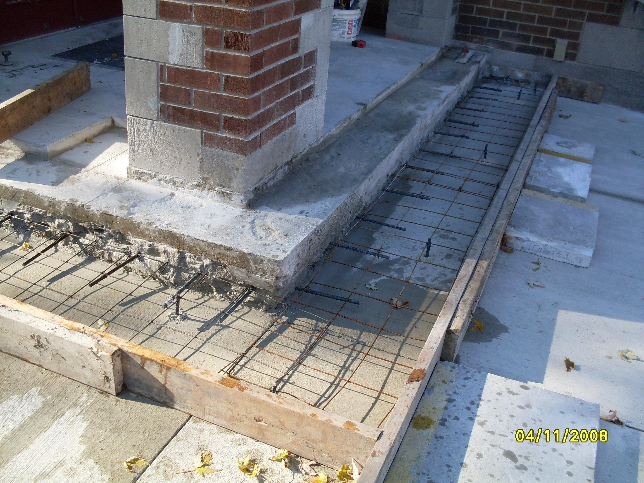 Fixing Cinder Block Chimney : Concrete block chimney repair